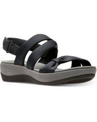 Clarks - Cloudsteppers Arla Mae Wedge Sandals - Lyst