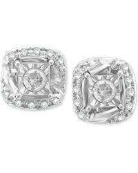 Macy's - Diamond Stud Earrings (1/5 Ct. T.w.) In 14k White Gold - Lyst