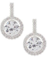 Anne Klein - Silver-tone Crystal Drop Earrings - Lyst