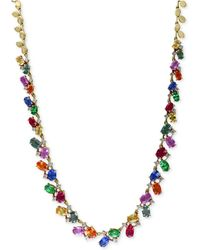 Effy Collection - Multi-gemstone (17-3/4 Ct. T.w.) And Diamond (1 Ct. T.w.) Statement Necklace In 14k Gold - Lyst