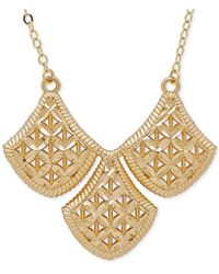 Macy's - Filigree Triple Drop Pendant Necklace In 10k Gold - Lyst