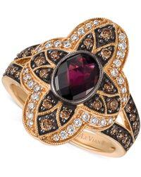 Le Vian - Rhodolite Garnet (1 Ct. T.w.) And Diamond (5/8 Ct. T.w.) Statement Ring In 14k Rose Gold - Lyst