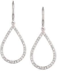 Anne Klein - Pavé Crystal Teardrop Earrings - Lyst