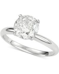 Macy's - Diamond Solitaire Engagement Ring (2 Ct. T.w.) In 14k White Gold - Lyst