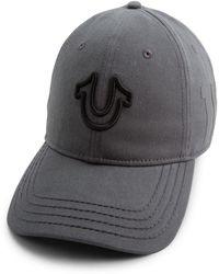 8c5714ec6e1 Lyst - True Religion Faux Fur-trimmed Aviator Hat in Blue