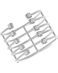 Steve Madden - Imitation Pearl Openwork Multi-row Cuff Bracelet - Lyst
