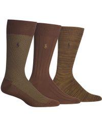 Polo Ralph Lauren - Birdseye Dress Socks, 3 Pack - Lyst