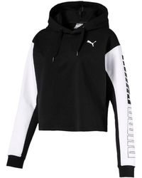 PUMA - Modern Sport Drycell Cropped French Terry Hoodie - Lyst