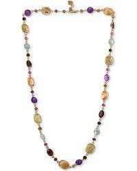 """Effy Collection Effy® Mutli-gemstone 23"""" Statement Necklace (96-3/8 Ct.t.w.) In 14k Gold - Metallic"""