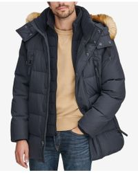 Marc New York - Long Snorkel Down Coat With Faux-fur Trim - Lyst