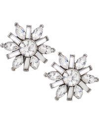Carolee - Earrings, Silver-tone Small Button Snowflake Earrings - Lyst