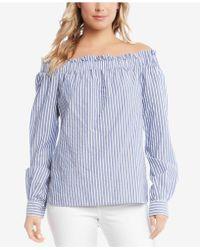 Karen Kane - Striped Off-the-shoulder Top - Lyst