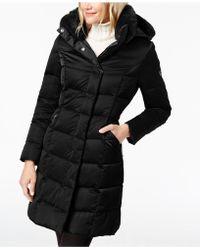T Tahari - Hooded Faux-fur-trim Puffer Coat - Lyst