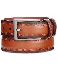Perry Ellis - Wing Tip Leather Belt - Lyst