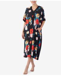 Ellen Tracy - Plus Size Flower-print Long Caftan - Lyst