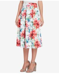 Tahari - Floral-print Scuba Skirt, Regular & Petite - Lyst
