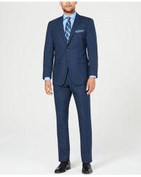 Perry Ellis - Slim-fit Comfort Stretch Medium Blue Sharkskin Suit - Lyst