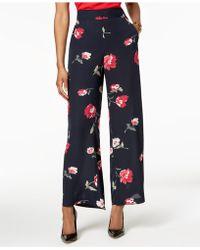 Nine West - Floral-print Wide-leg Pants - Lyst
