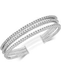 Macy's - Diamond Triple-band Bangle Bracelet (2-3/8 Ct. T.w.) In 14k White Gold - Lyst