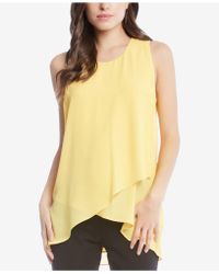 Karen Kane - Asymmetrical Layered-hem Top - Lyst