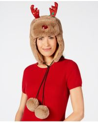 Charter Club Holly The Reindeer Trapper Hat, Created For Macy's
