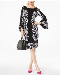 INC International Concepts - Bell-sleeve Sheath Dress - Lyst
