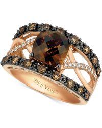 Le Vian - Chocolate Quartz® (2 Ct. T.w.) & Diamond (3/4 Ct. T.w.) Ring In 14k Rose Gold - Lyst