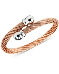 Charriol - Unisex Celtic Twisted Cable Bracelet In Rose Gold-plated Stainless Steel - Lyst