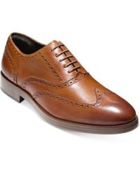 Cole Haan - Men's Henry Grand Short Wing-tip Shoes - Lyst