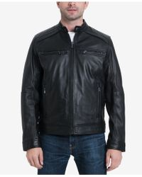Michael Kors - Perforated Leather Moto Jacket, Created For Macy's - Lyst
