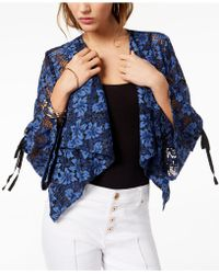 INC International Concepts - I.n.c. Drape-front Lace Jacket, Created For Macy's - Lyst