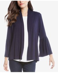 Karen Kane - Molly Ruffled-sleeve Cardigan - Lyst