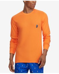 Polo Ralph Lauren - Men's Waffle-knit Pajama Shirt - Lyst