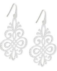 Macy's - Filigree Pattern Drop Earrings In Sterling Silver - Lyst