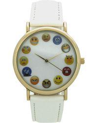 Olivia Pratt - Emoji Leather Strap Watch - Lyst