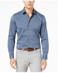 Alfani - Men's Modern Striped Shirt - Lyst