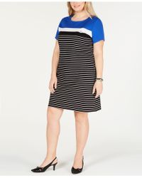 726f45488fe Lyst - Karen Scott Plus Size Elbow-sleeve T-shirt Dress