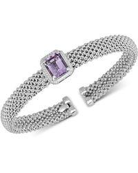 Macy's - Amethyst Cuff Bangle Bracelet (2-3/8 Ct. T.w.) In Sterling Silver - Lyst