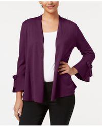 Alfani - Tie-sleeve Cardigan, Created For Macy's - Lyst