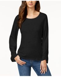 Style & Co. - Ruched-sleeve Top, Created For Macy's - Lyst