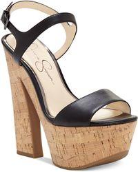 Jessica Simpson - Divela Platform Sandals - Lyst