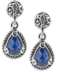 Carolyn Pollack - Lapis Lazuli Doublet Drop Earrings (4-3/a Ct. T.w.) In Sterling Silver - Lyst