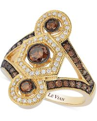 Le Vian - Chocolate And White Diamond Deco Ring (1 Ct. T.w.) In 14k Gold - Lyst