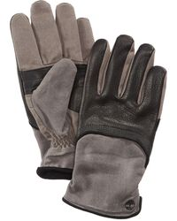 Timberland - Men's Leather & Waxed Canvas Gloves - Lyst