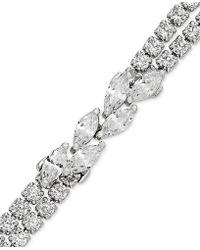 Macy's - Arabella Swarovski Zirconia Link Bracelet In Sterling Silver - Lyst