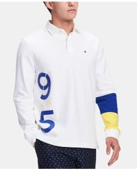 dcf5e9589eb8 Lyst - Tommy Hilfiger Men s Jim Rugby Shirt in White for Men