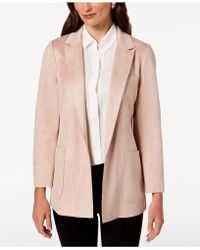 Charter Club - Woven Faux-suede Blazer, Created For Macy's - Lyst