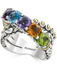Effy Collection - Multi-gemstone Statement Ring (4 Ct. T.w.) In Sterling Silver And 18k Gold - Lyst