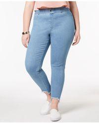 Hue - ® Plus Size Step-hem Original Denim Leggings - Lyst
