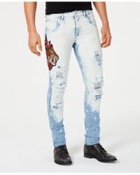 Reason - Vintage Revival Embroidered Denim Jeans - Lyst
